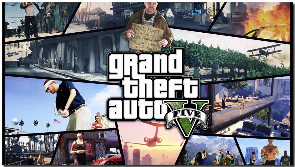 GTA V Grand Theft Auto V HD artistic fabric poster bedroom wallpaper 1024x583