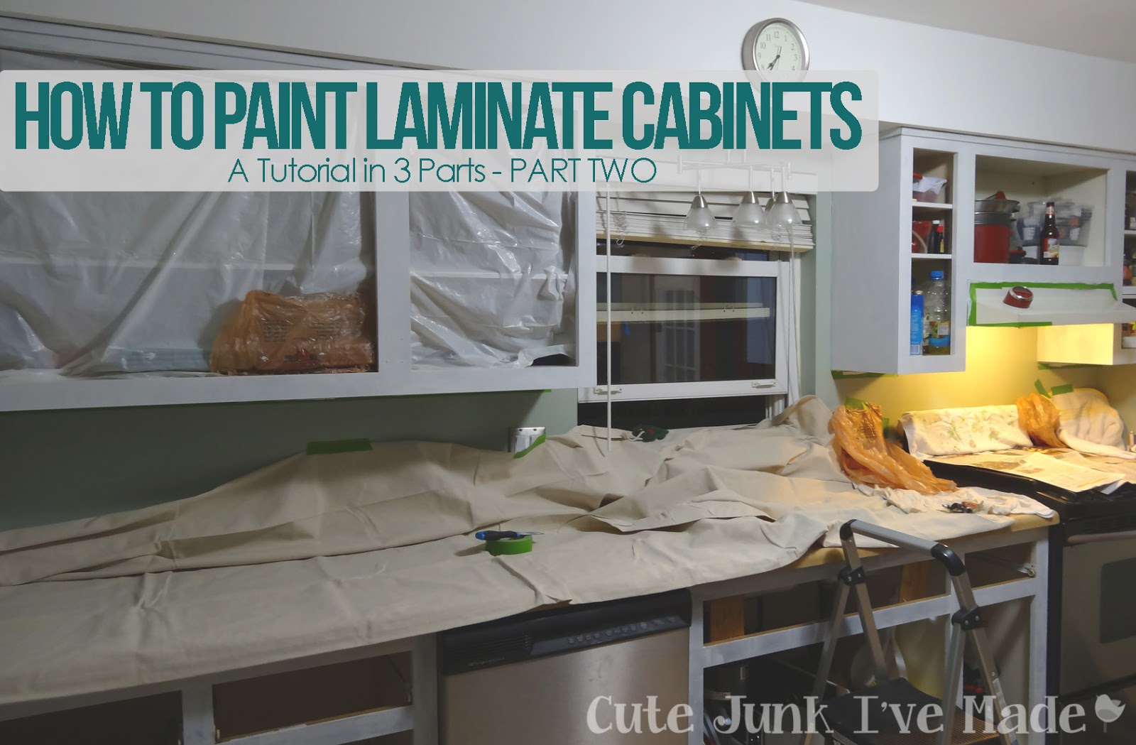 How To Paint Laminate Cabinets   Part Two Sanding Priming and 1600x1049
