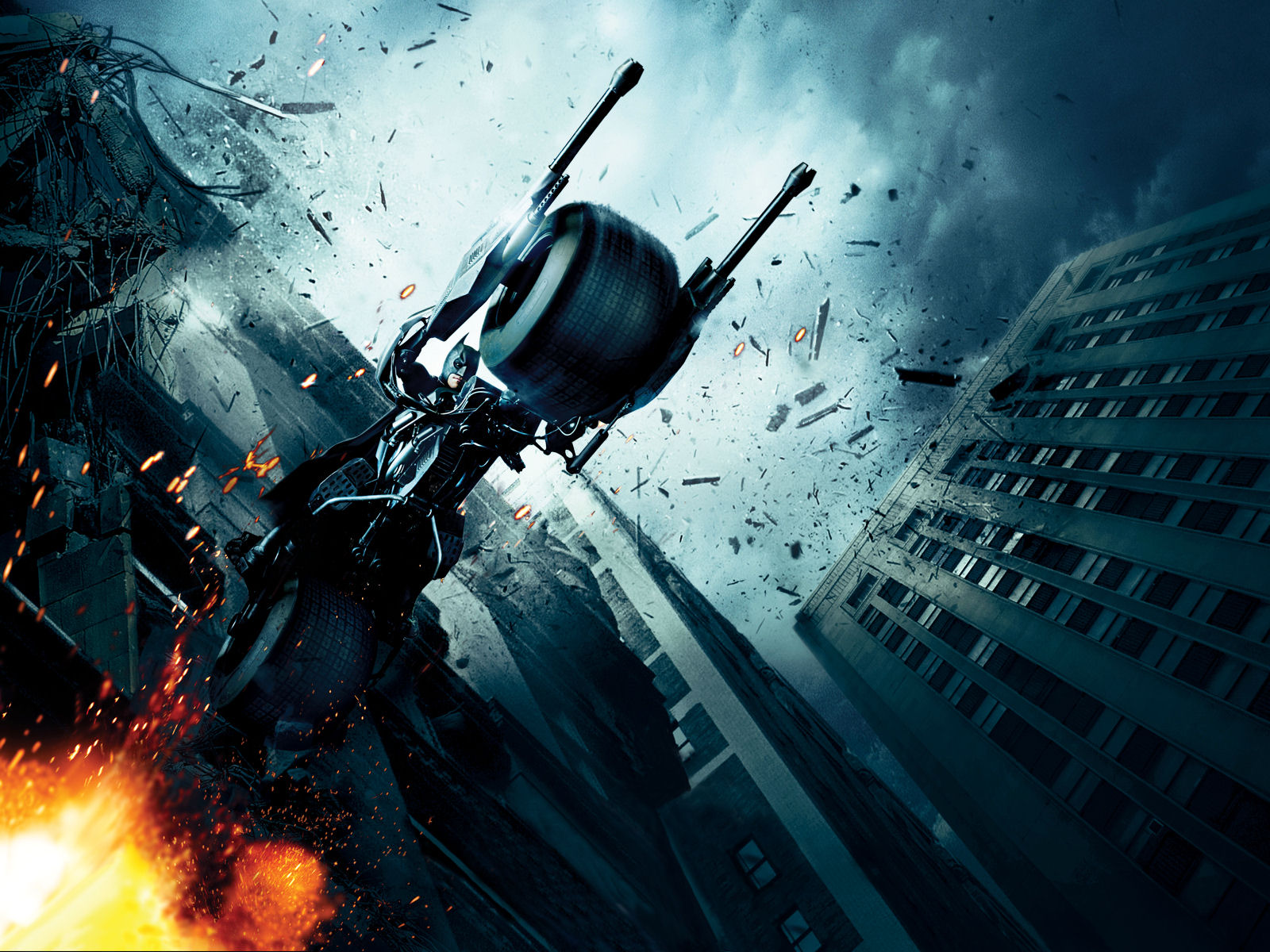 Batman Christian Bale Batmobile Batman The Dark Knight Batpod 1600x1200