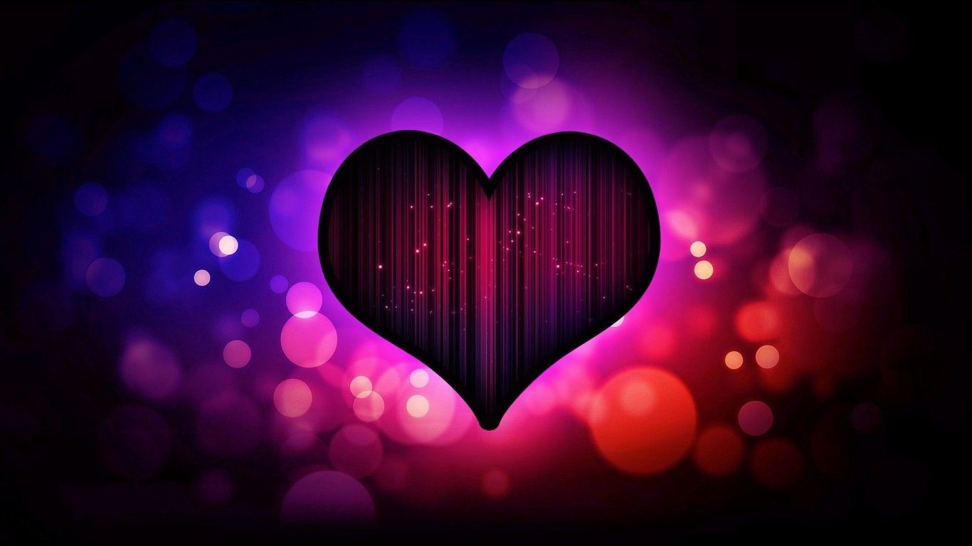 Dark Heart Valentines Day HD Wallpaper Image 4405 Wallpaper 1366x768