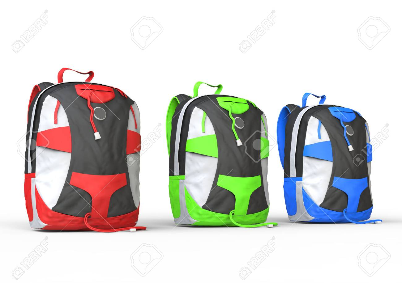 Backpacks On White Background Image Shot In Ultra High Resolution 1300x916