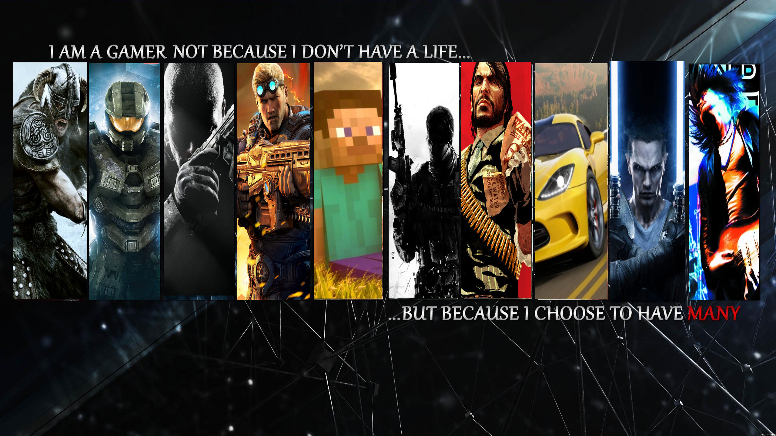redid a gaming wallpaper i saw but with different games gaming 2560x1440