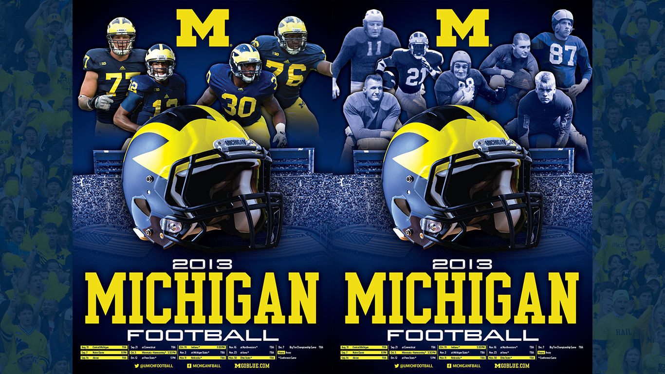 michigan wolverines wallpaper 1366x768
