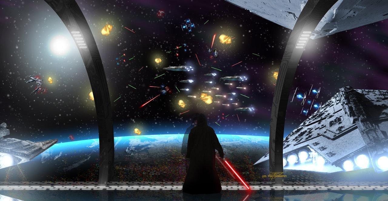 Star Wars Space Battle by Einon Y 1280x664