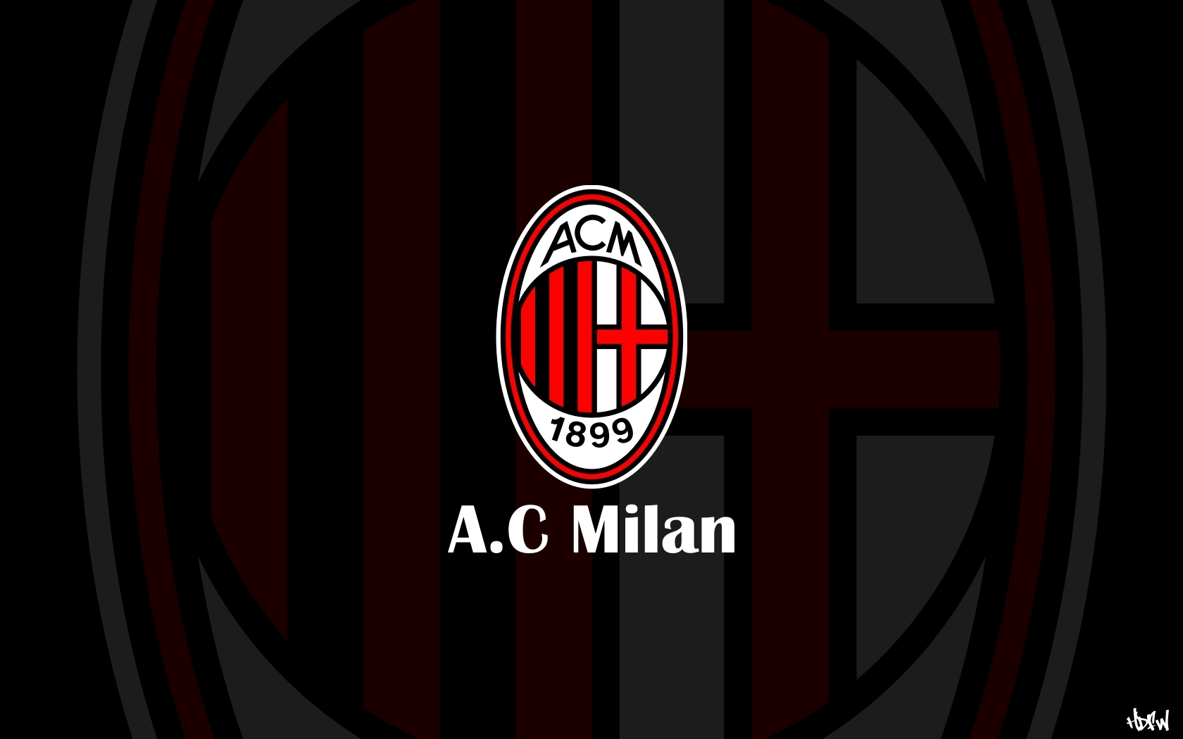 Ac Milan Logo Wallpaper Android Phones Wallpaper with 1680x1050 1680x1050