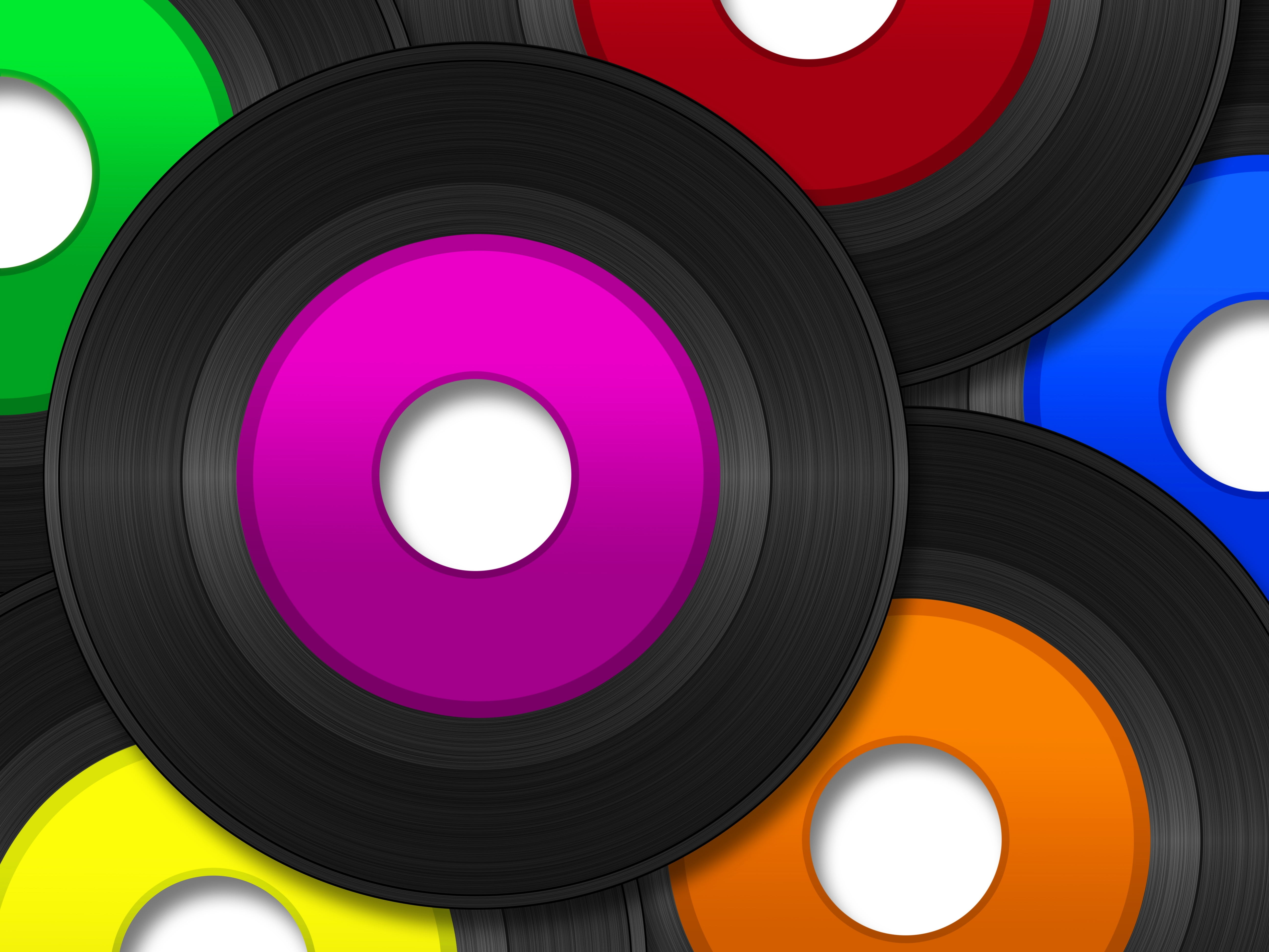 Black vinyl records HD wallpaper Wallpaper Flare 5184x3888
