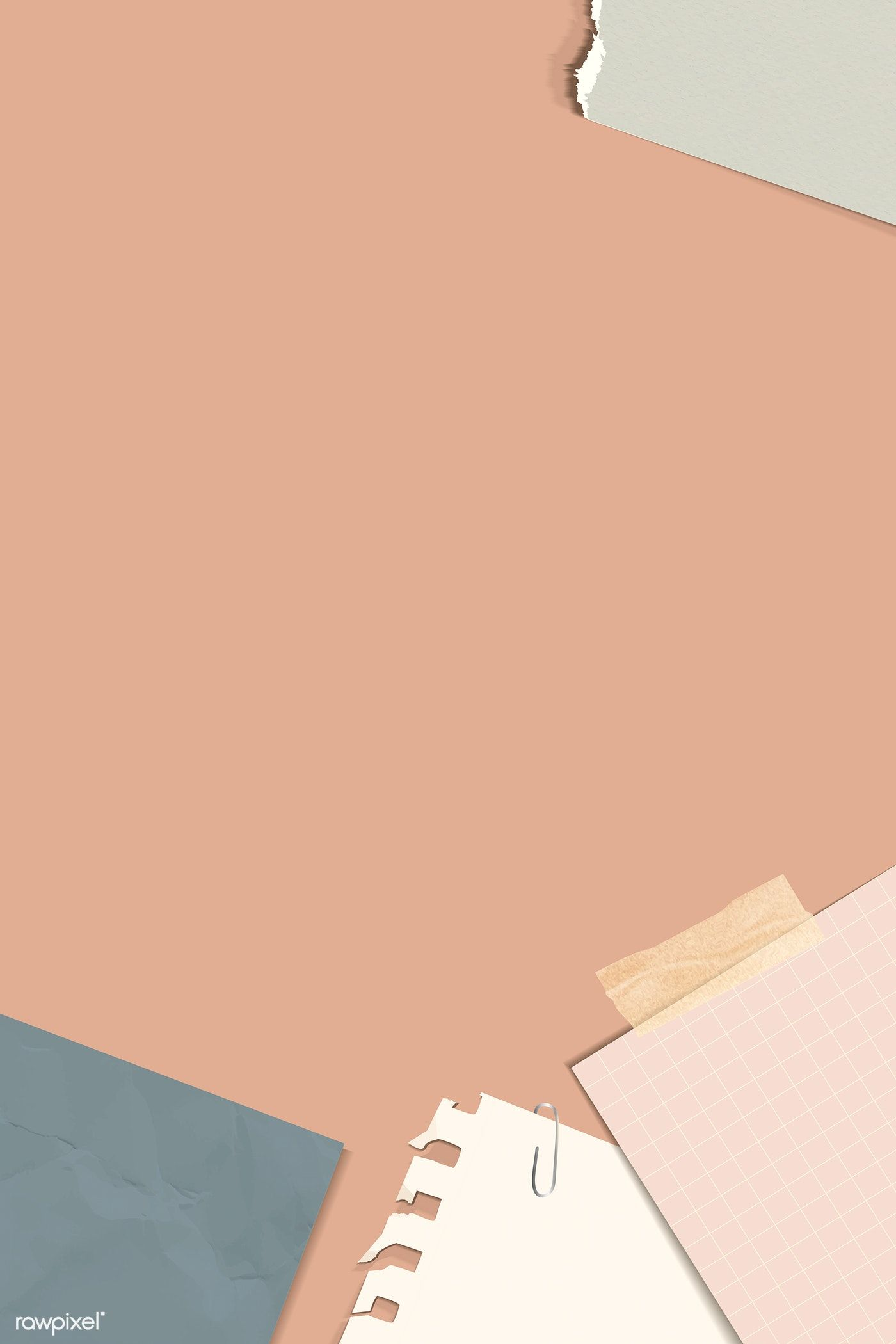 Download premium vector of Ripped notes on a peach background 1400x2100