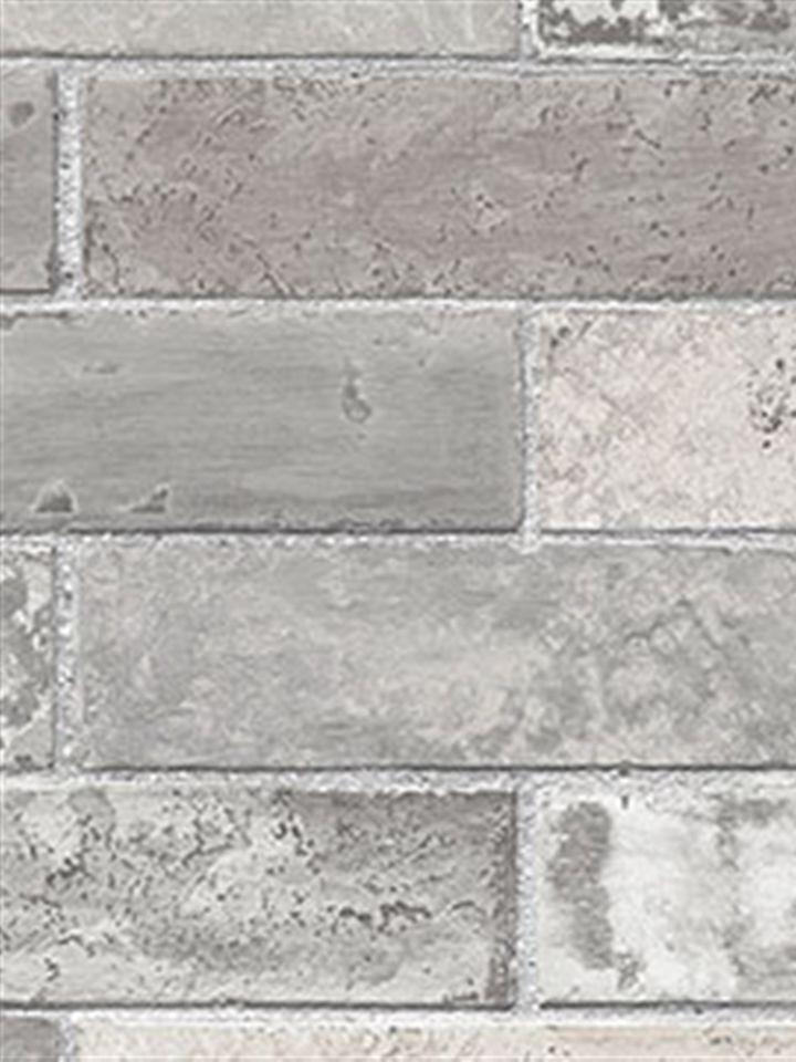Wall Wallpaper Dark Grey Faux Bricks Prepasted Vinyl Wallpaper eBay 720x960