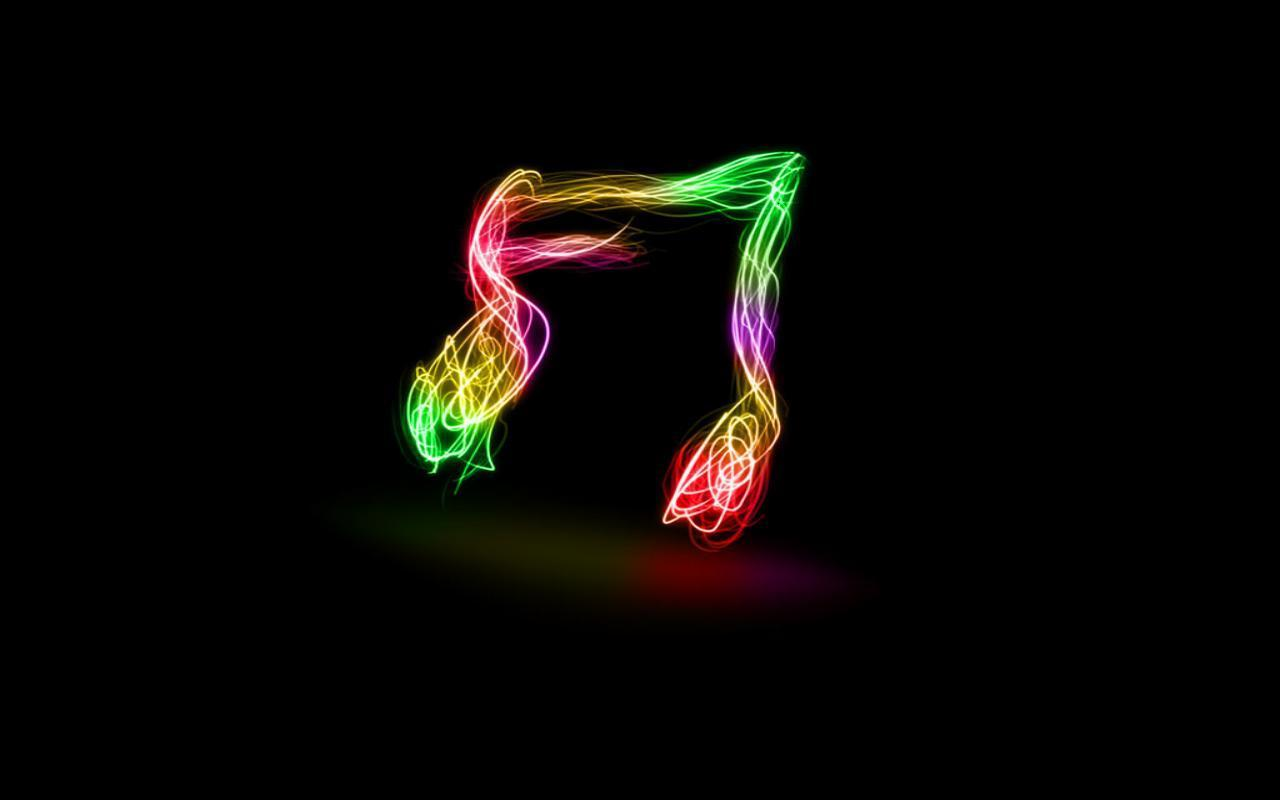 neon music notes wallpaper wallpapersafari