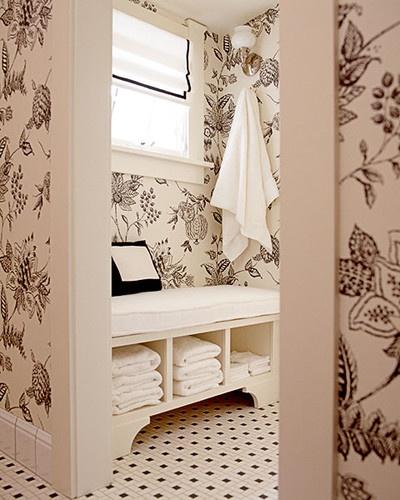 Master Bath traditional bathroom Walls wallpaper Pinterest 400x500