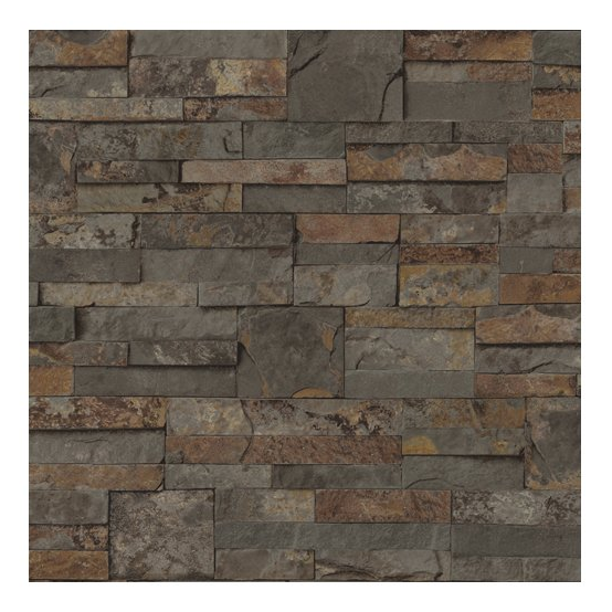 Ledgestone Brown Peelable Vinyl Prepasted Wallpaper Lowes Canada 554x554