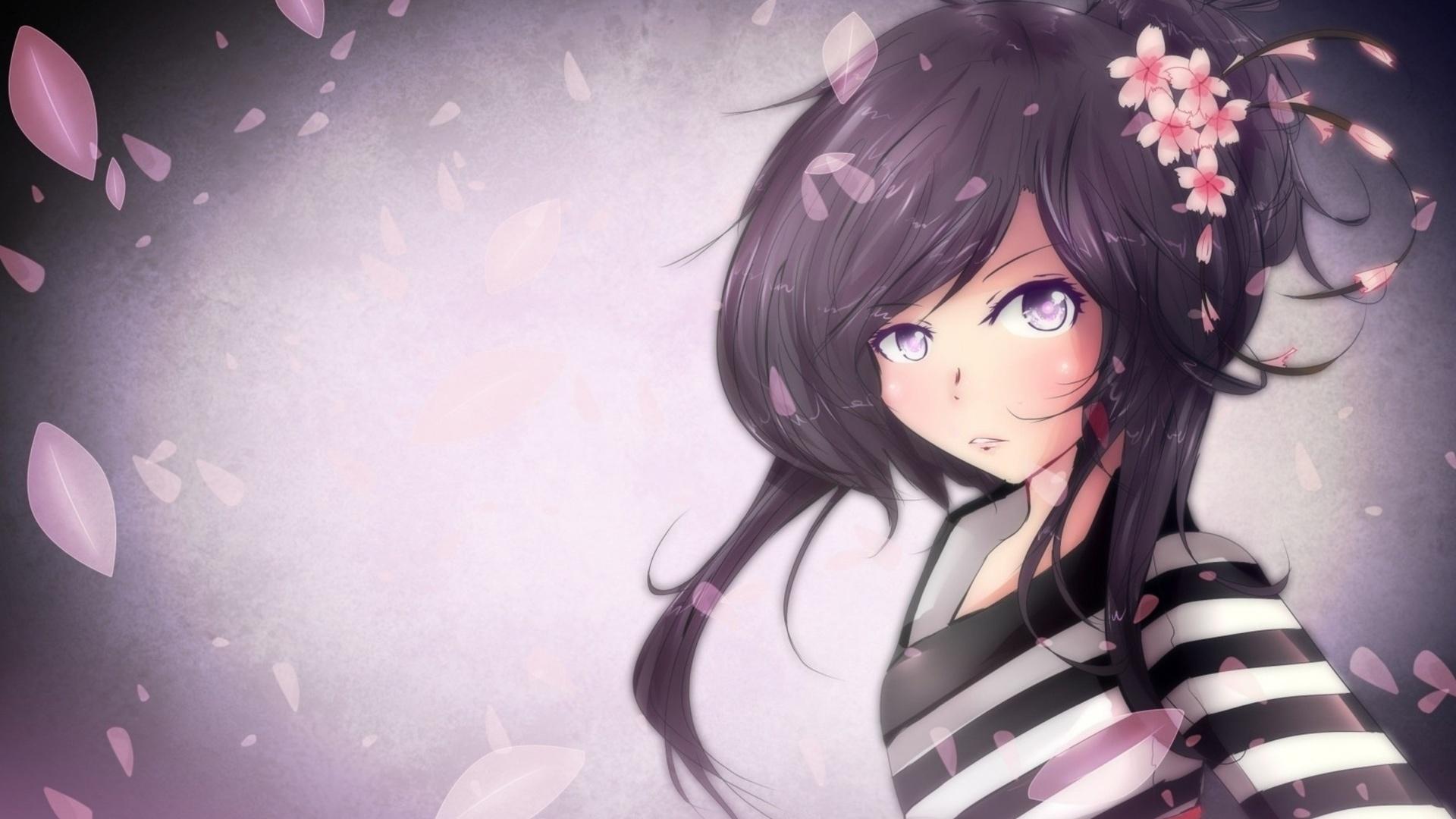 Free download Download Purple Anime Girl Wallpaper in