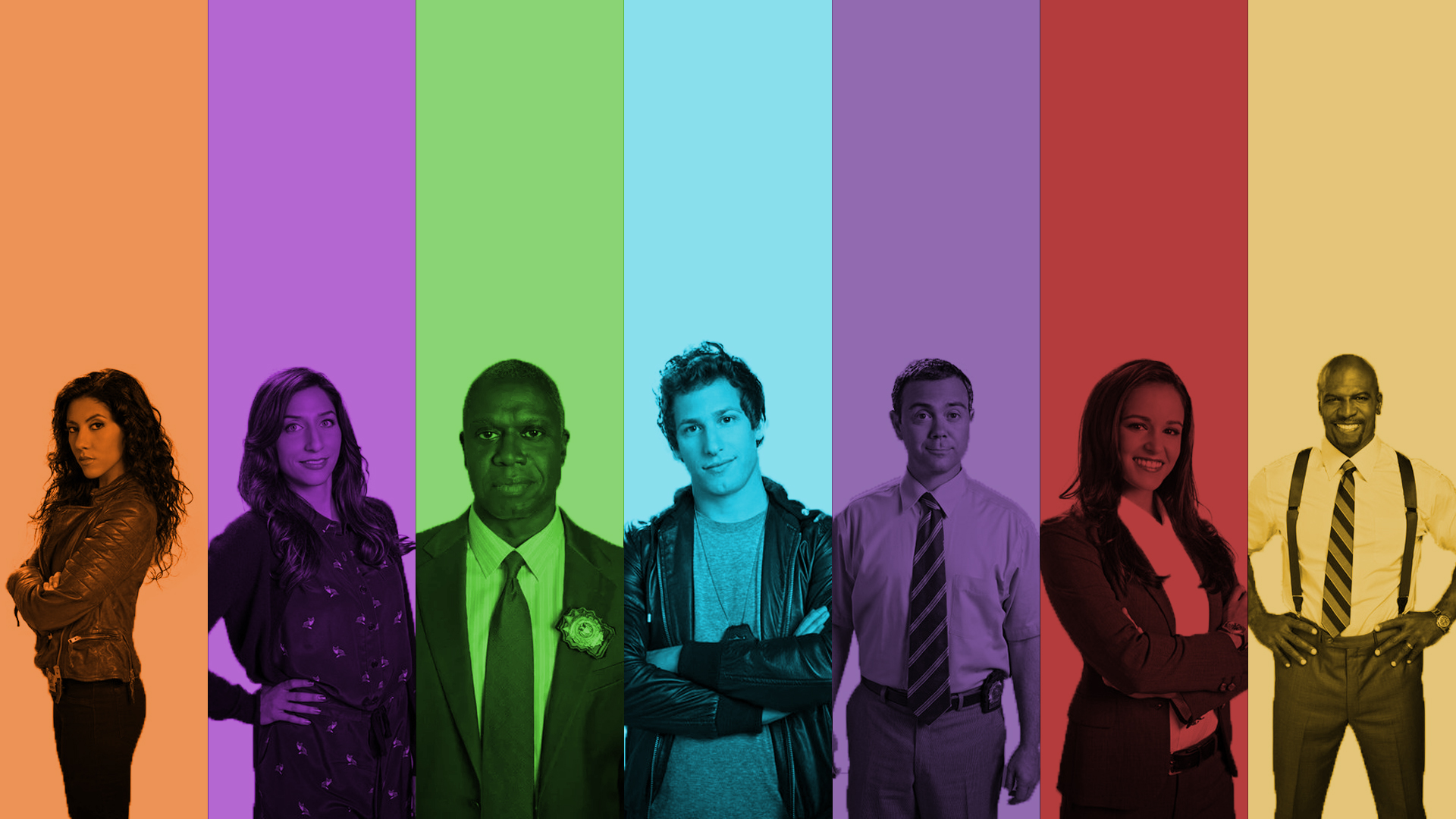 Made a Brooklyn Nine Nine wallpaper dedicated to my favourite show 1920x1080
