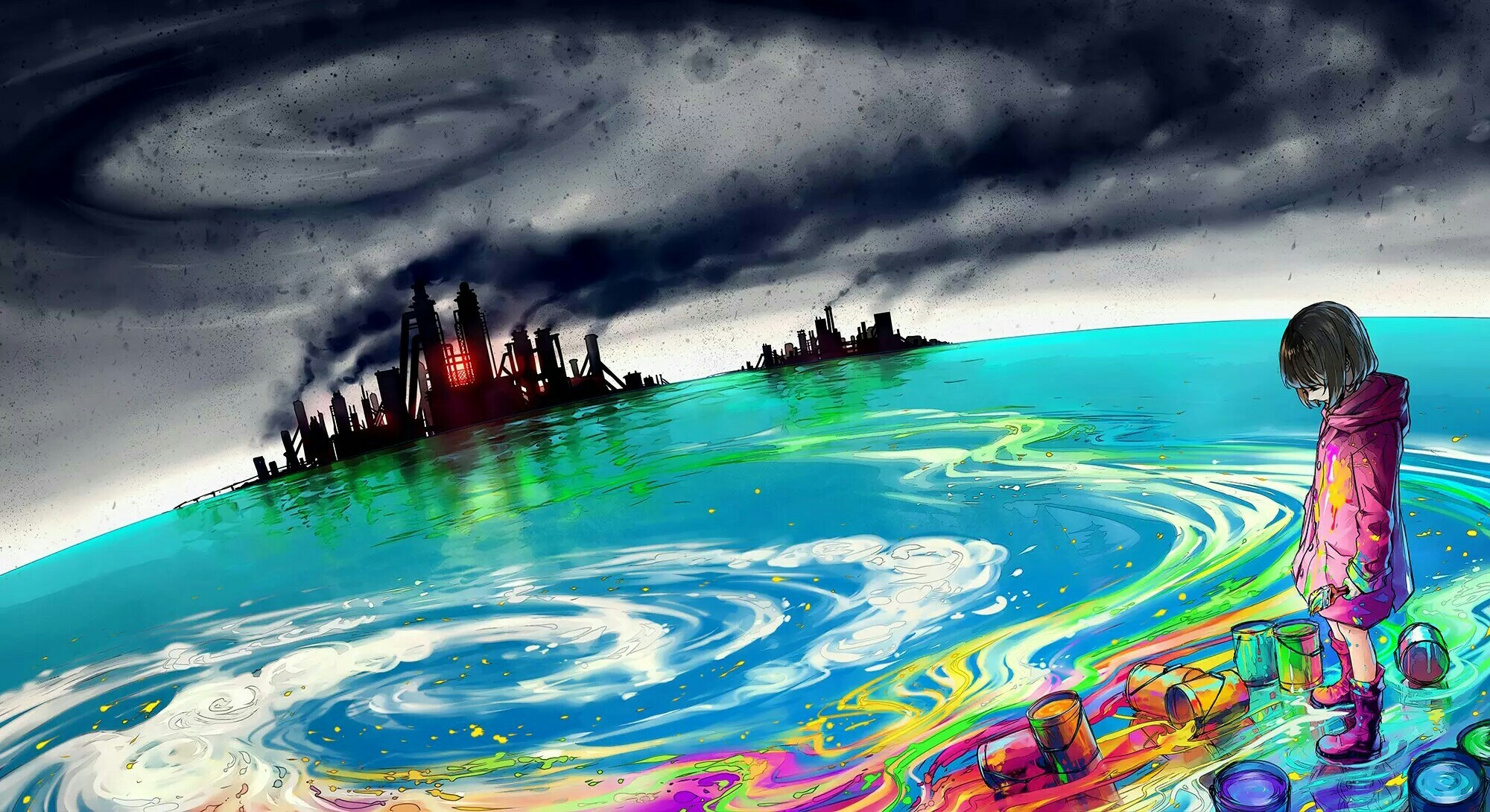 7 Pollution HD Wallpapers Background Images 2000x1090