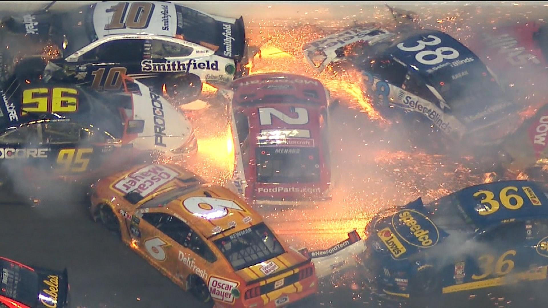NASCAR Daytona 500 crash knocks out half the field NBC Sports 1920x1080