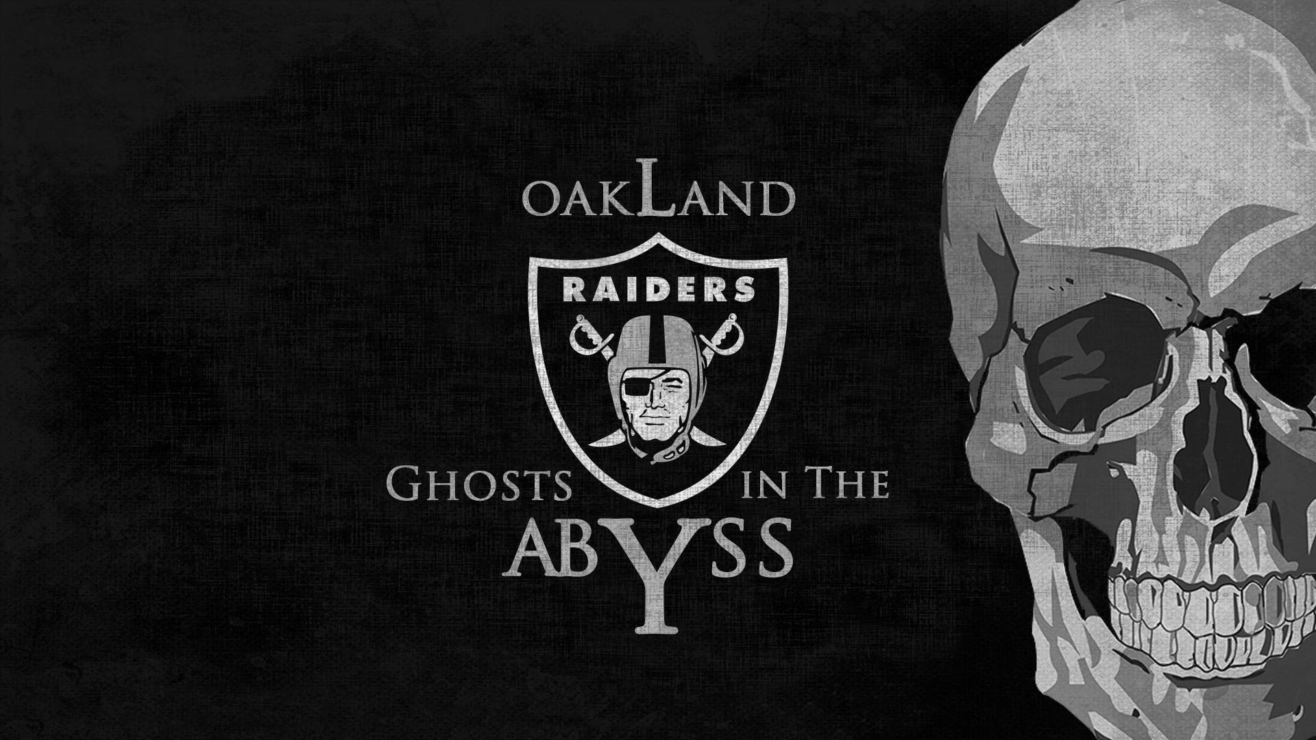 OAKLAND RAIDERS nfl football dark skull wallpaper background 1920x1080