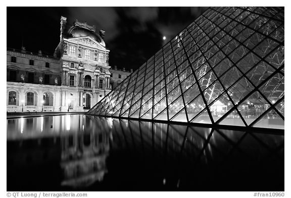 Free Download Black And White Picturephoto Louvre Pyramid Basin At Night Paris 576x393 For Your Desktop Mobile Tablet Explore 50 Paris Black And White Wallpaper Paris Themed Wallpaper Paris