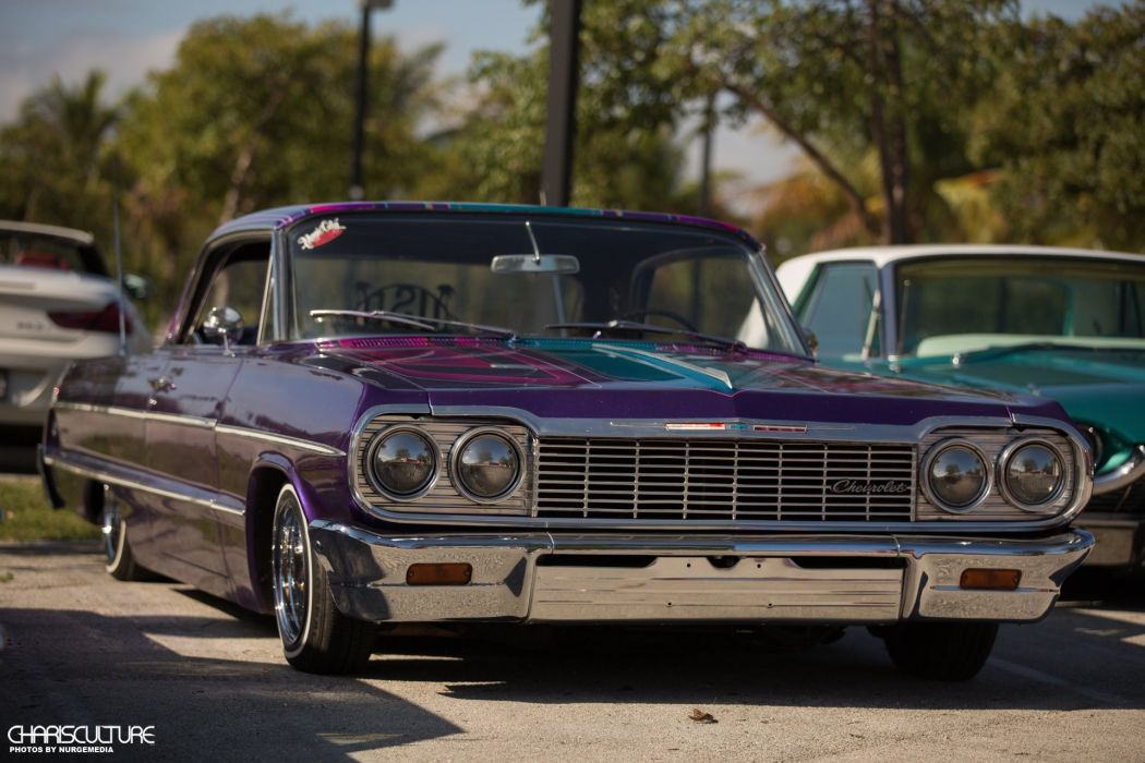 1964 Chevrolet Chevy Impala Coupe Two Door Lowrider Low USA 1050x700