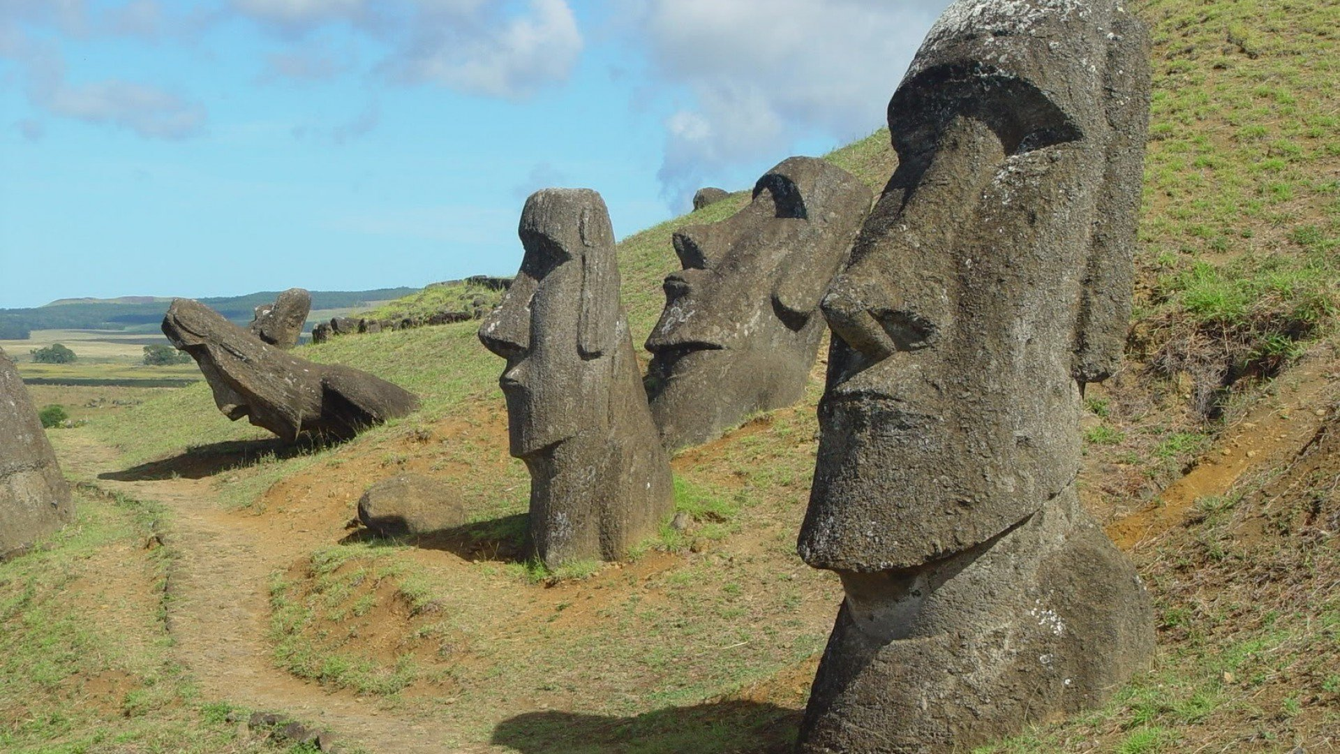 Easter Island in the Polynesian Triangle HD Wallpapers 1920x1080