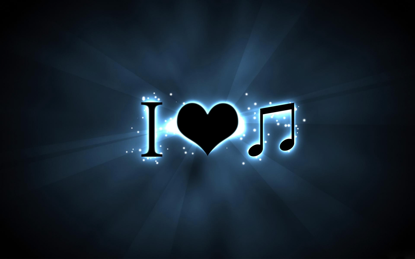 Papel de Parede I Love Music Wallpaper para Download no Celular ou 1440x900