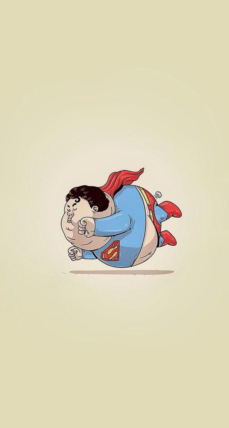 Fat Superman superheroes iPhone wallpaper   mobile9 supreme 744x1392