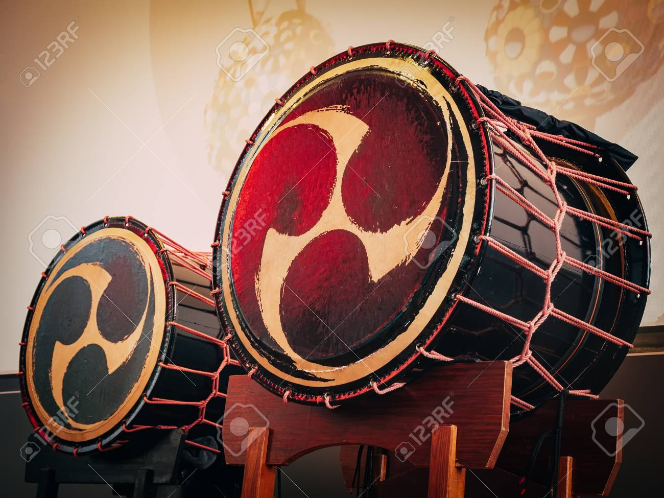 Taiko Drums O kedo On Scene Background Musical Instrument Of 1300x975