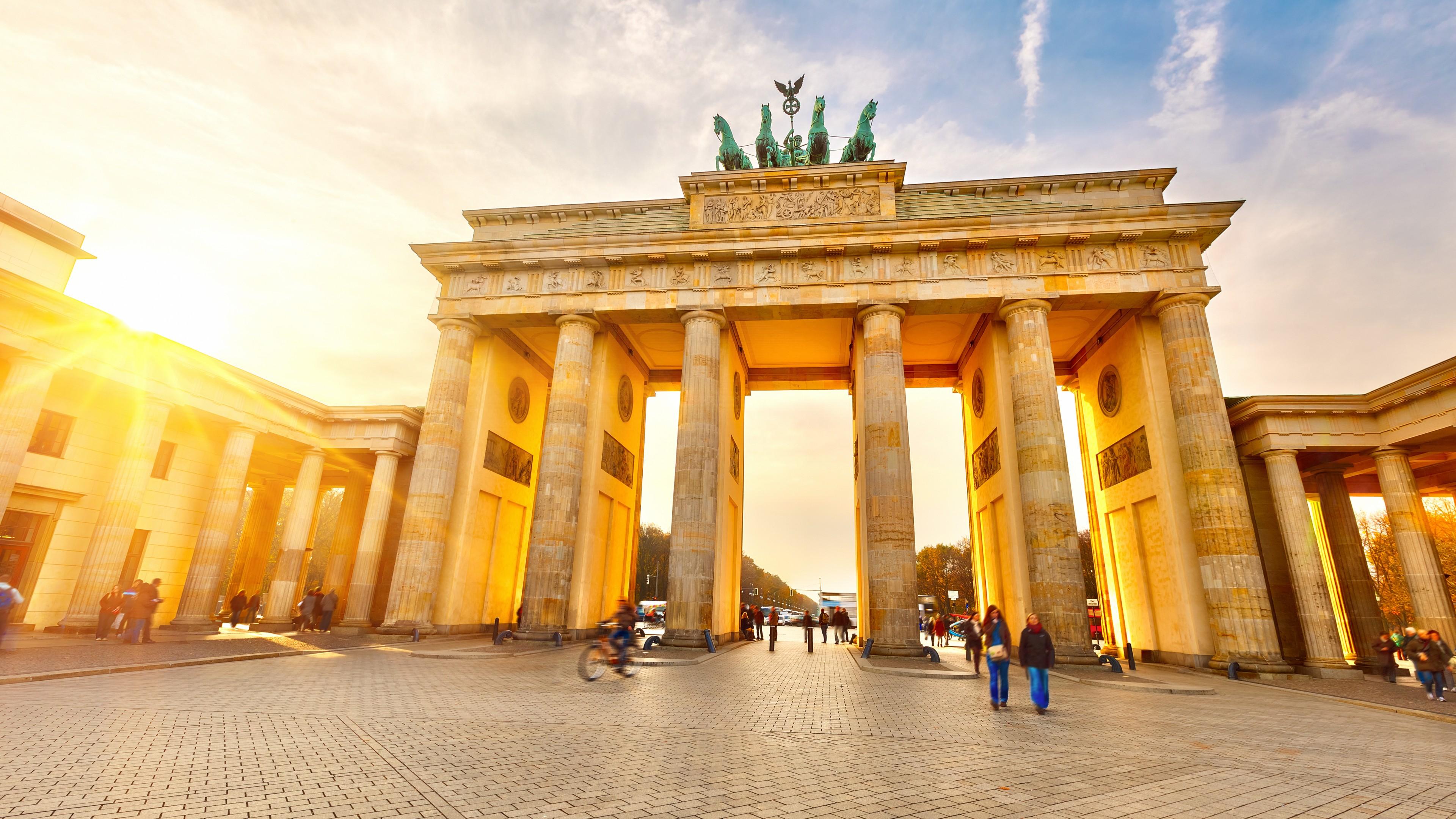 Wallpaper Brandenburg Gate Berlin Germany Tourism Travel 3840x2160