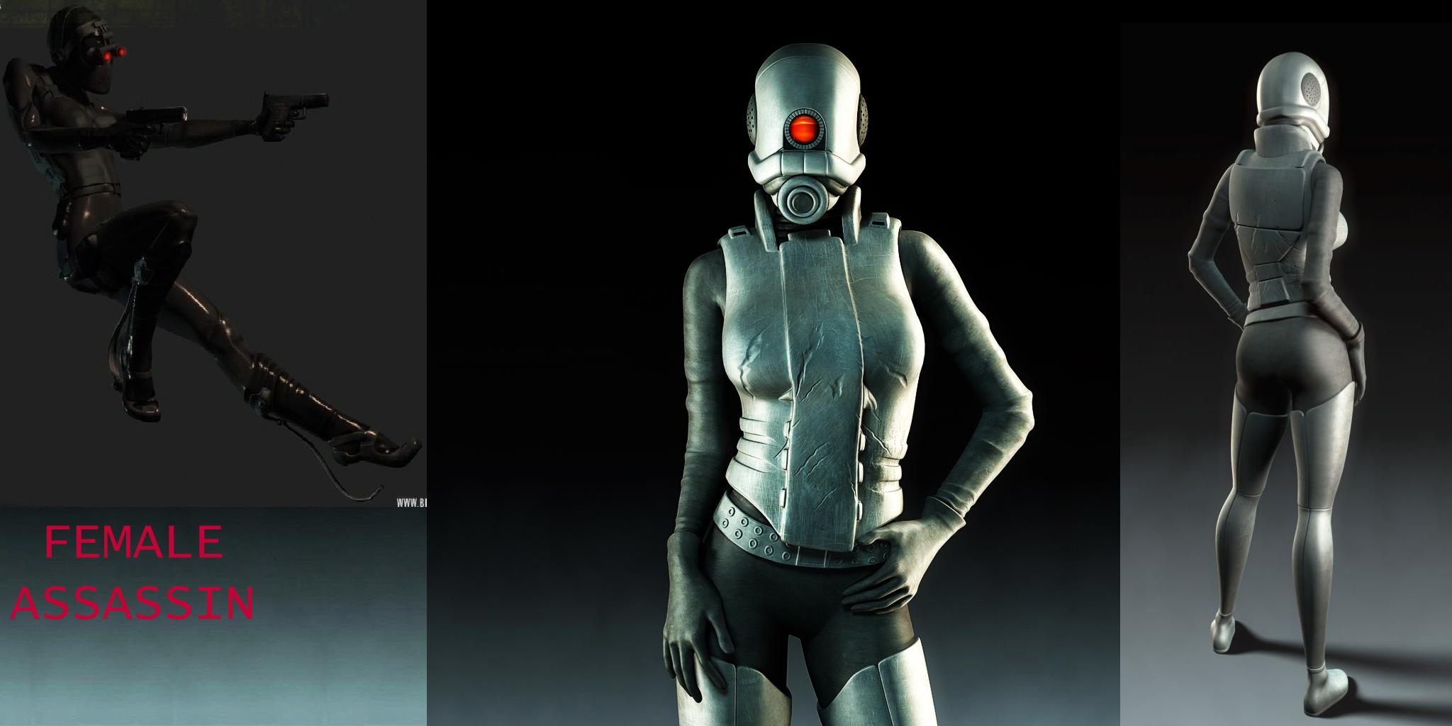 Female Assassin Background addon   Garrys Mod for Half Life 2   Mod DB 2048x1024