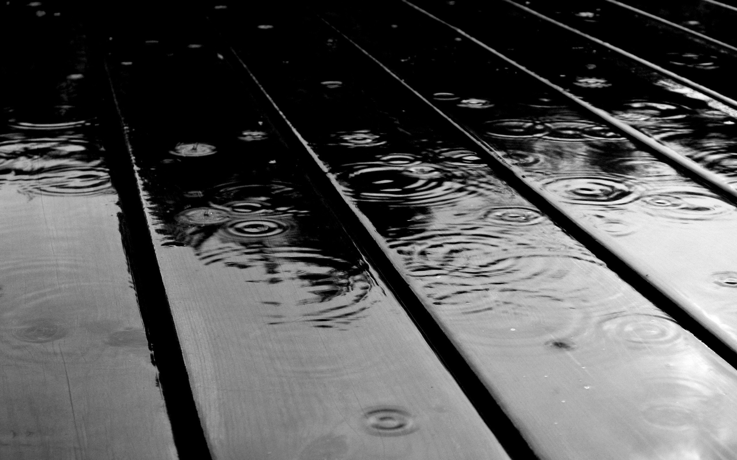 Raindrops on wood wallpaper background 37675 2560x1600