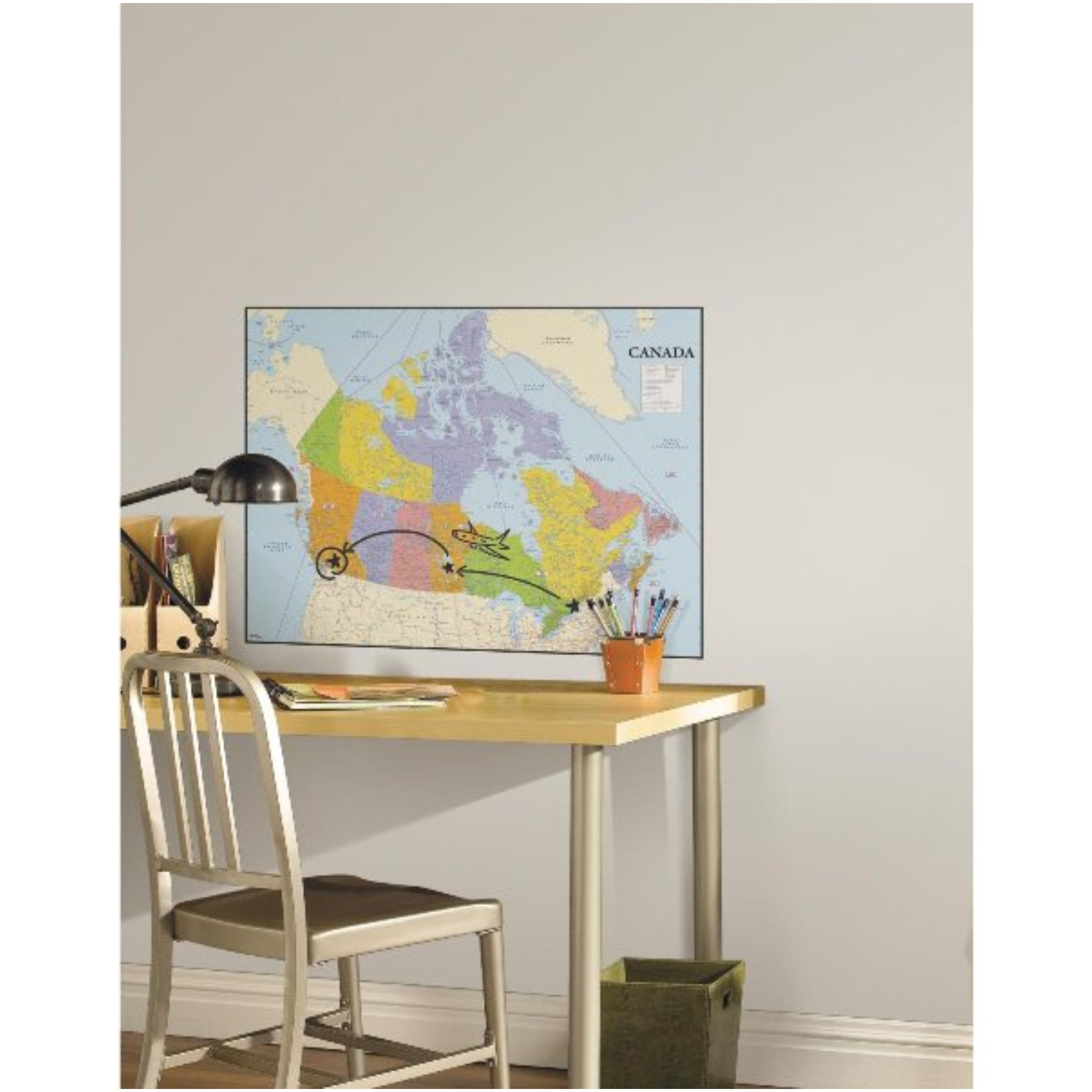 Roomates Roommates Canada Map Peel And Stick Dry Erase Giant Wall 1800x1800
