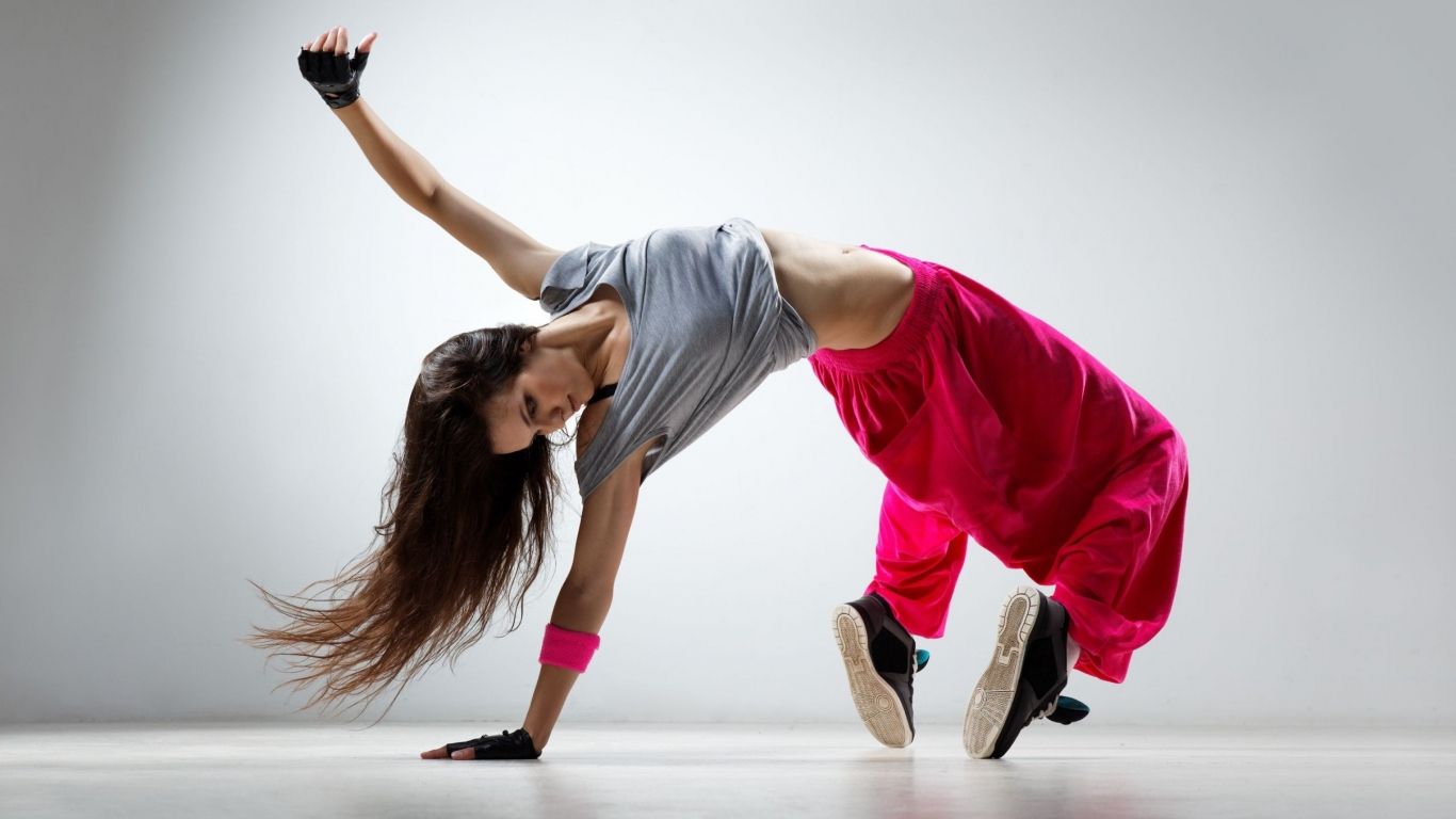 Hip Hop Dance by a Girl HD Desktop Wallpaper Background 1366x768