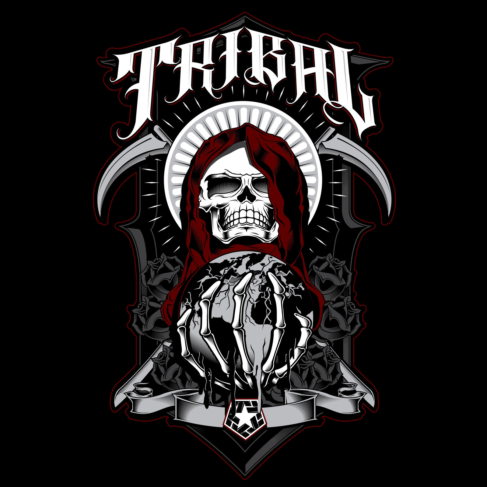 Tribal Gear Logo Wallpaper 1600x1600