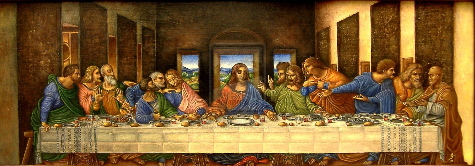 last supper wallpaper 1600x562