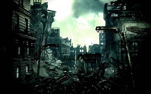 destroyed fallout 3 cities City Wallpaper Desktop Wallpaper 600x375