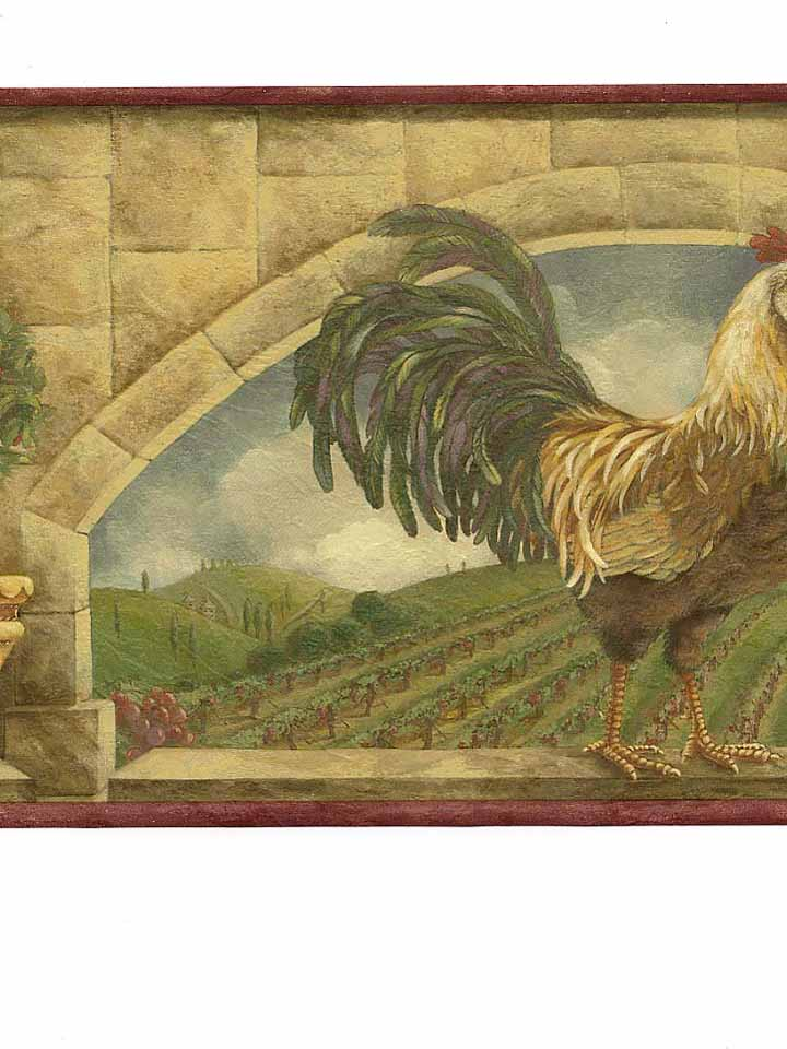 TUSCANY ROOSTER BORDER   9B14   5812176 MonsterMarketplacecom 720x960