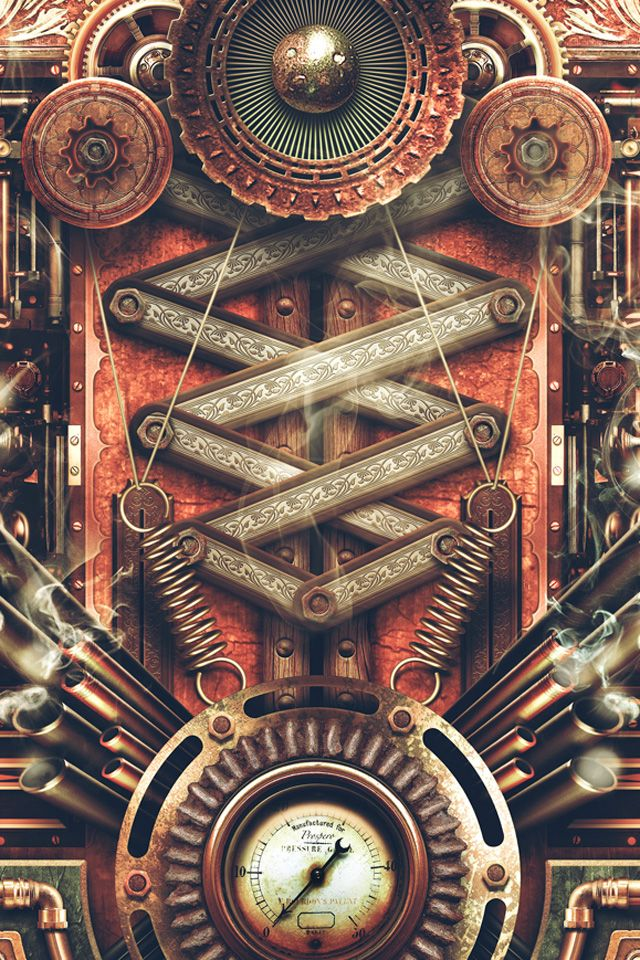 Wallpaper Downloads for iPhone 4s steam punk Weve added Steampunk 640x960