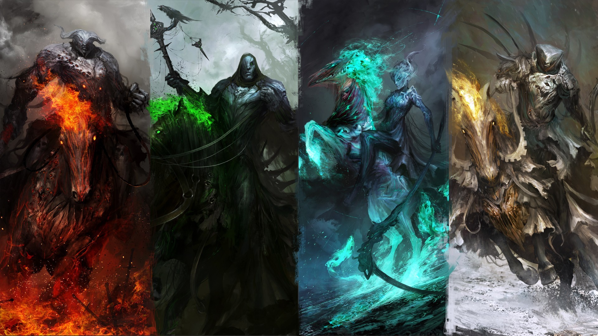 Four Horsemen Of The Apocalypse Fantasy Wallpapers 1920x1080
