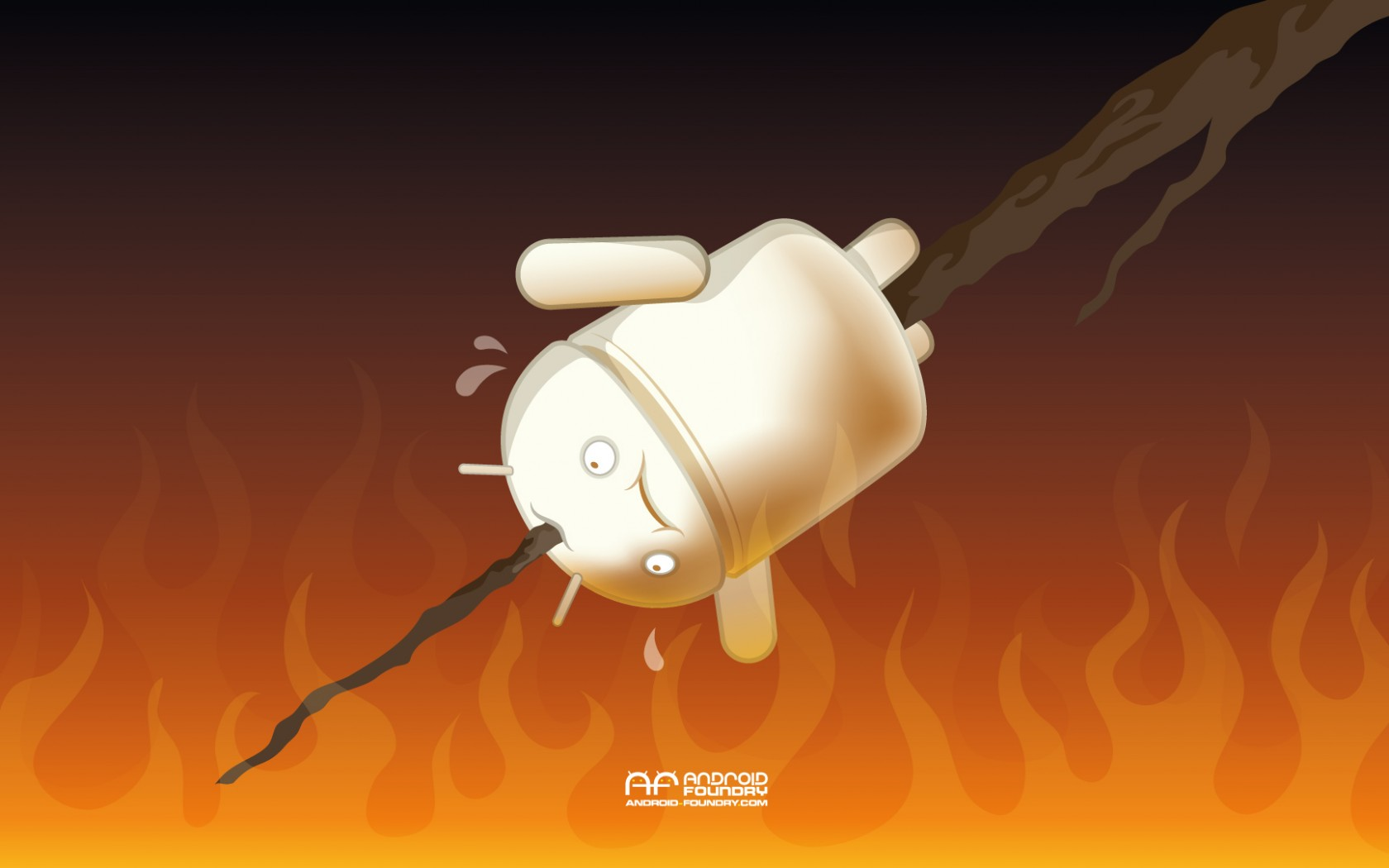Wallpaper National Marshmallow Toasting Day Android Foundry 1680x1050
