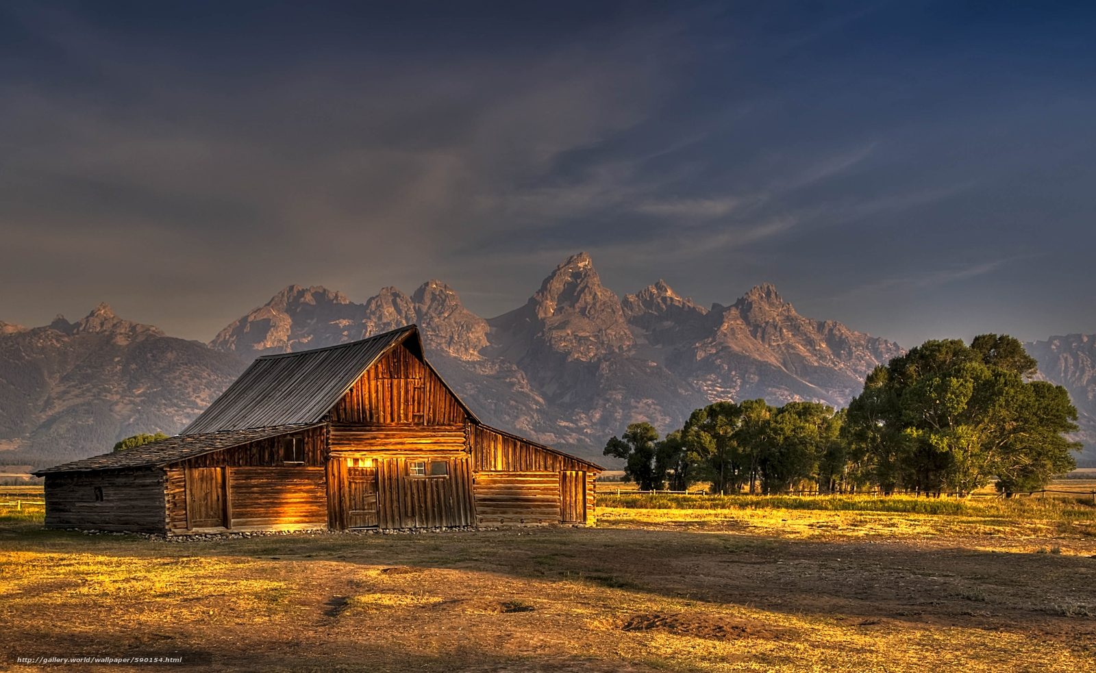 Jackson Hole Wyoming desktop wallpaper in the resolution 1600x983