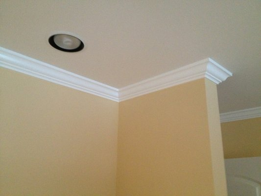 smoothed out wallpaper walls new crown molding and paint Yelp 533x400