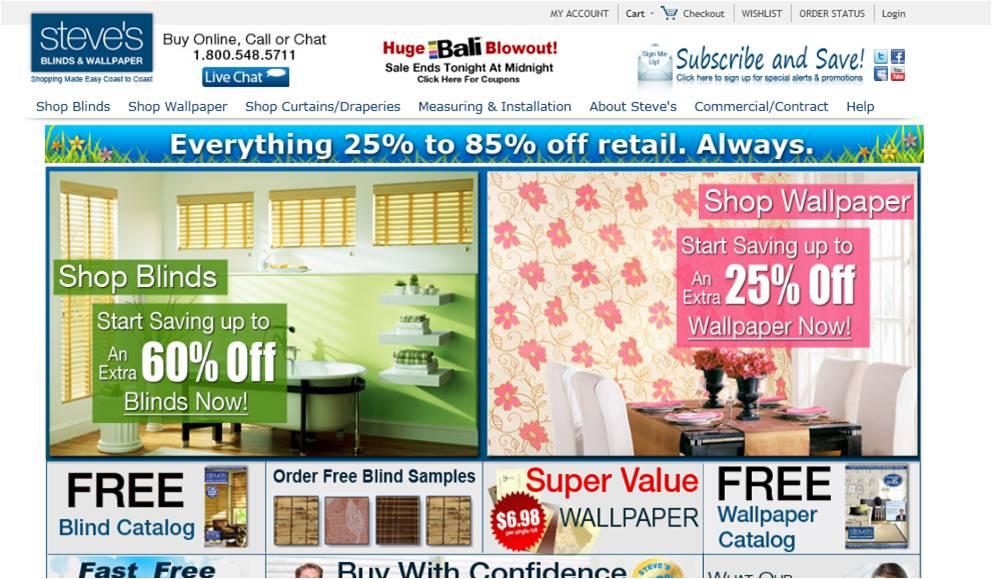 StevesBlindsandWallpaper Coupon Code Coupon Online Codes 992x579