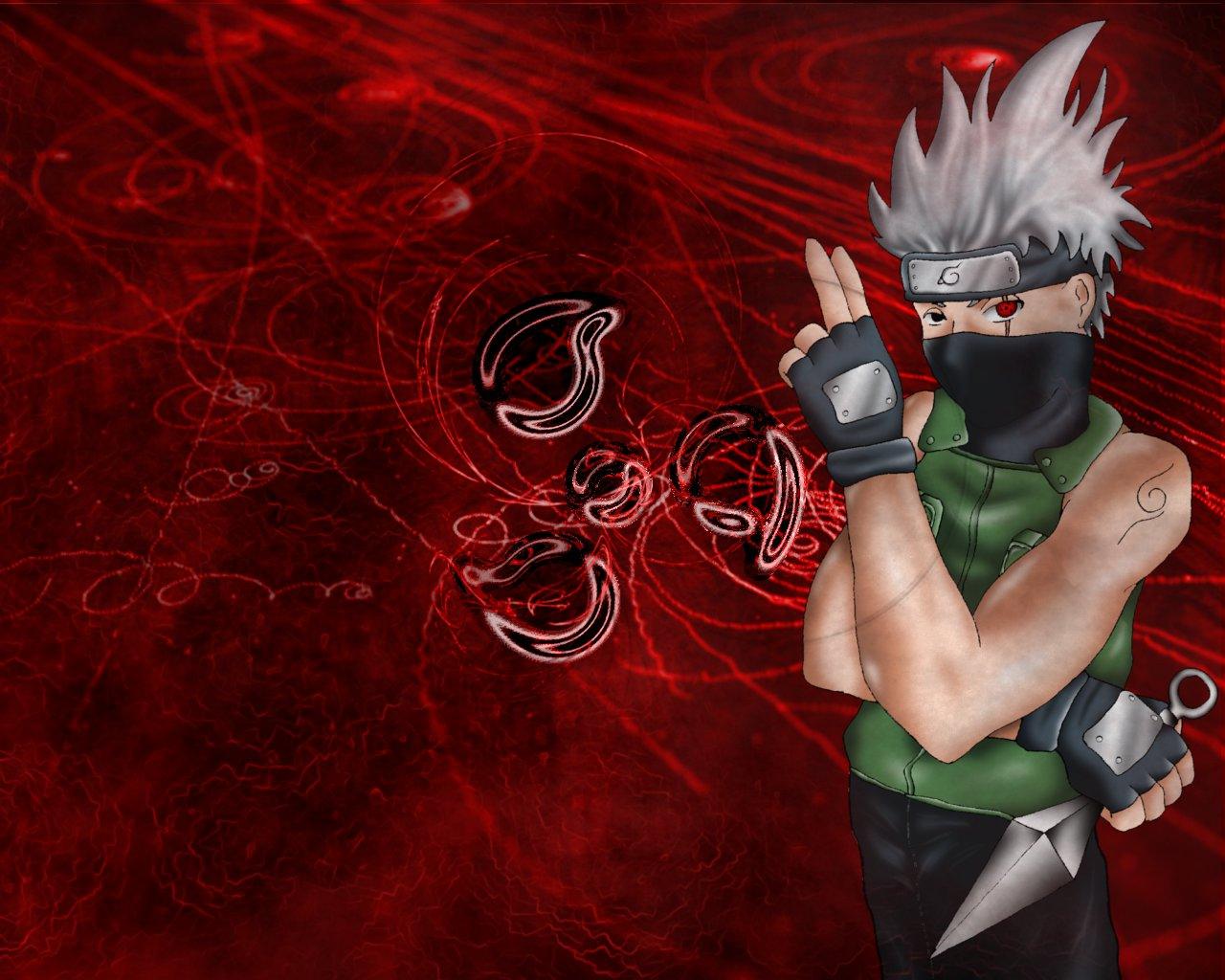 Kakashi wallpaper by alfalyr on deviantART 1280x1024