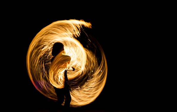Wallpaper effect of light fire juggling wallpapers situations 596x380