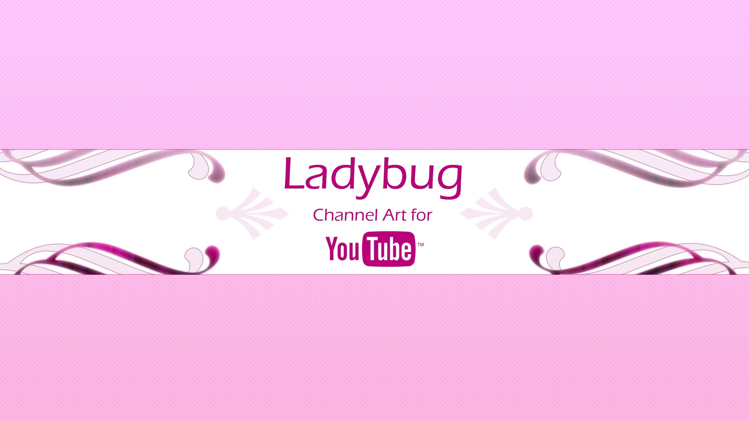 Ladybug Channel Art Template for YouTube Photoshop PSD 2560x1440