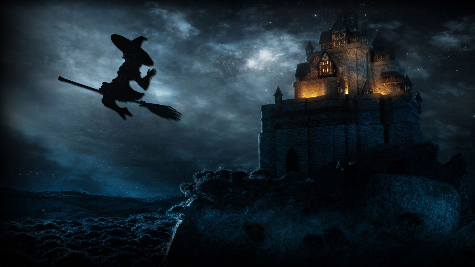 Halloween Witch Computer Wallpapers 34291   Baltana 1920x1080
