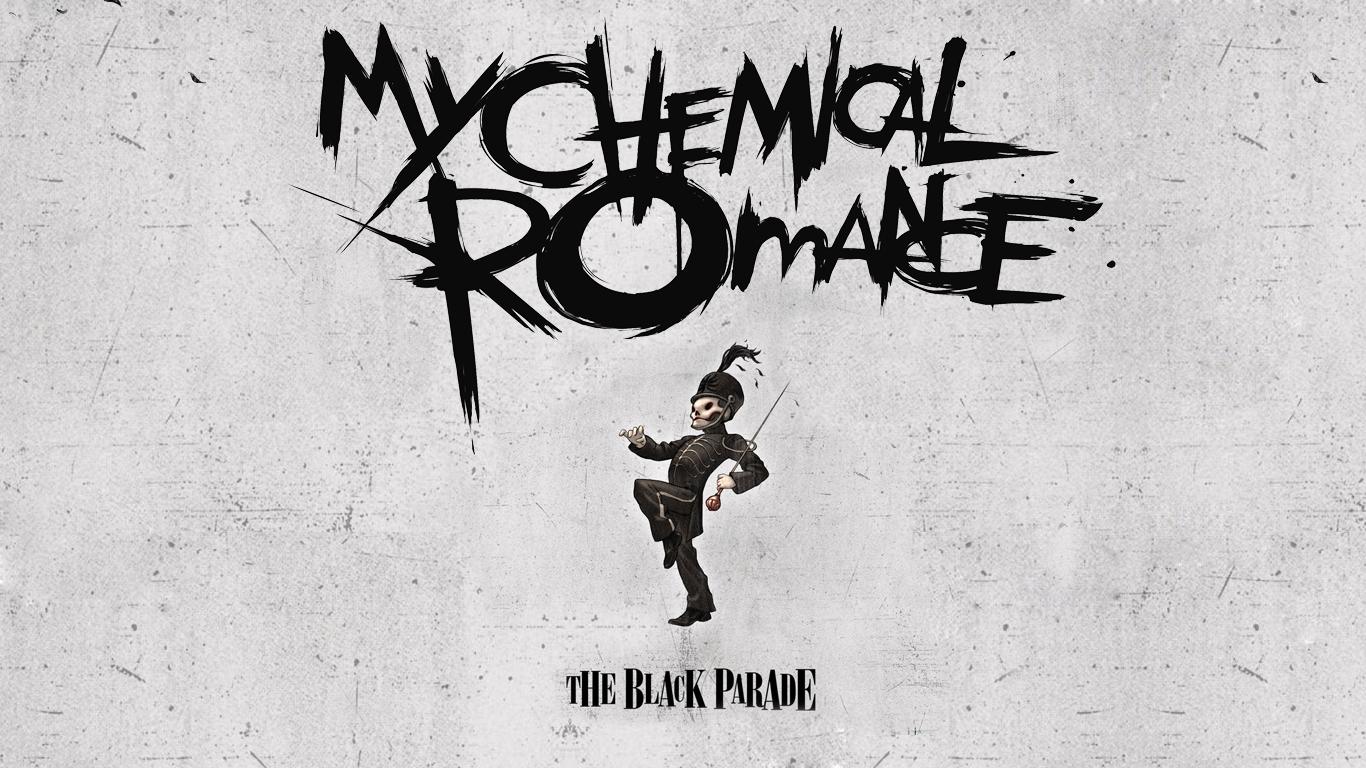 My Chemical Romance Logo Wallpaper My chemical romance wp1 by 1366x768