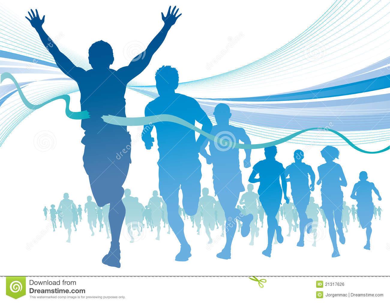 Marathon Background Group of marathon runners on 1300x1009