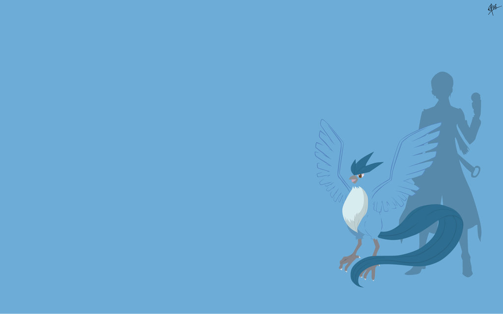 Articuno Blanche   TEAM MYSTIC WALLPAPER by uuwdon on 1024x640