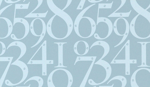 Modern wallpaper Blue numbers Flickr   Photo Sharing 500x292