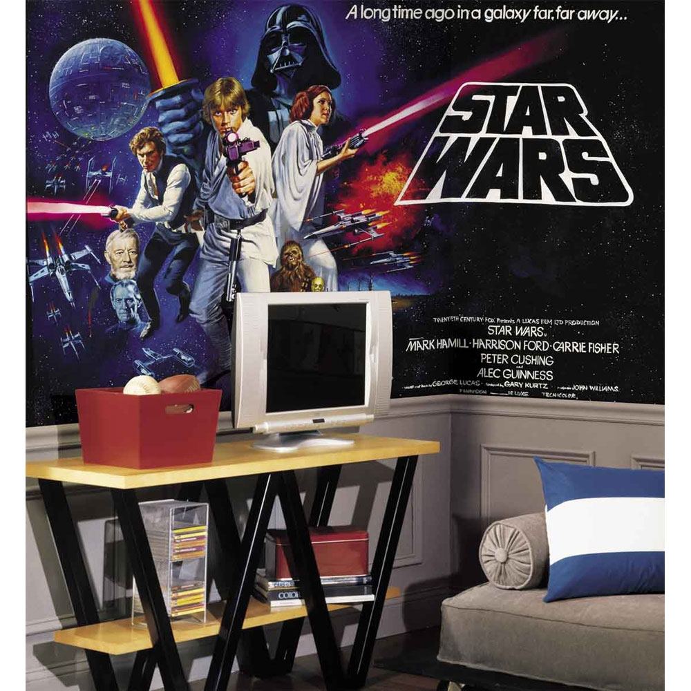 Free Download Star Wars Classic Wall Mural Wallpaper Accent Decor 1000x1000 For Your Desktop Mobile Tablet Explore 75 Star Wars Wallpaper For Walls Star Wars Wallpaper 1080p Star Wars